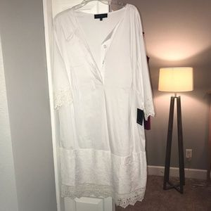 Eloquii Size 18 White Sheath Dress, NWT